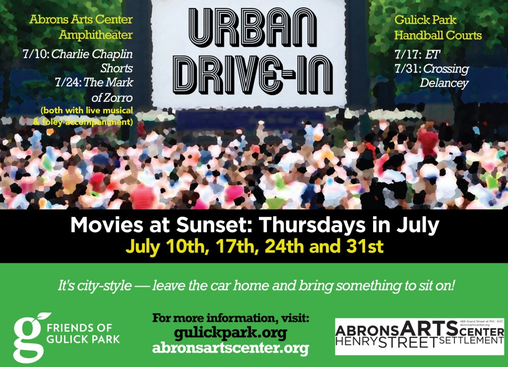Outdoor movies Thursdays in July 2014